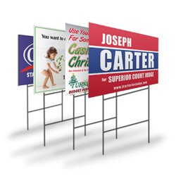 Full Color 24 x 18 Custom Printed Yard Signs